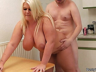 6:54 - Blonde gets cunt licked and doggy fucked by boss -
