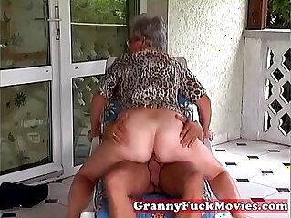 6:46 - Outdoor fucking grandma -