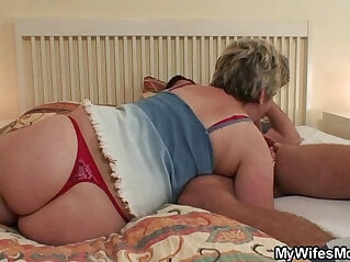 7:19 - Horny granny seduces him but wife finds out! -