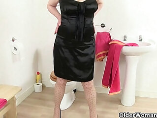 13:28 - British grannies Molly and Amanda get naughty in bathroom -