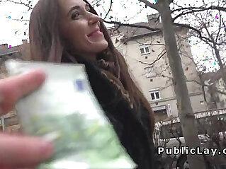 7:53 - Russian babe flashing panties in public -
