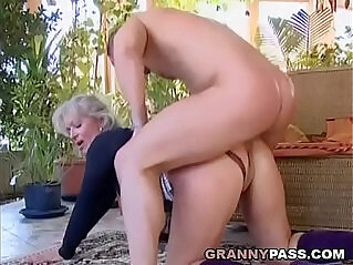 8:06 - Busty amateur Blonde Granny Discovers Young Cock -