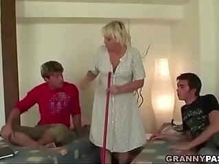5:39 - Granny Threesome Sex -