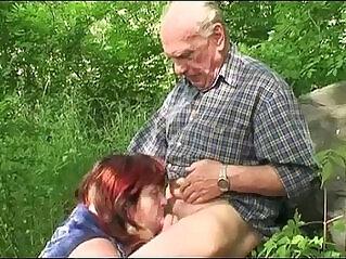 7:04 - Granny Outdoor Fucking -
