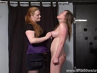 9:20 - Taylor Hearts bizarre lesbian humiliation and boot licking submission of spanked -