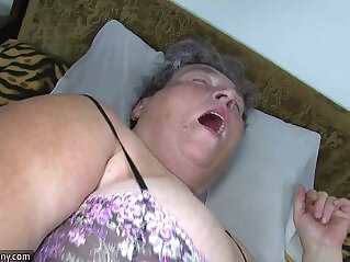 8:28 - Old chubby mom teaches her chubby younger woman masturbating use dildo -