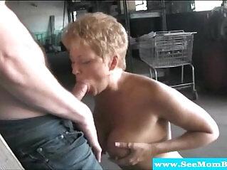 6:59 - Blonde mature milf feasting on hard cock -