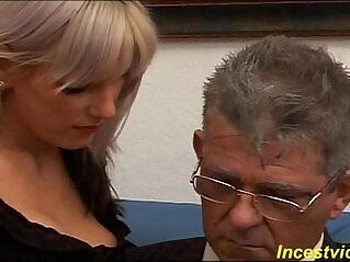 45:28 - Daddy banged fucks his cute daughter on sofa -