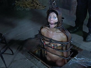 49:35 - Strappado, claustrophobia and orgasm predicament for captive girl -