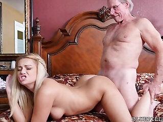 Sexy 18 Year Old Fucks Year Old Grandpa