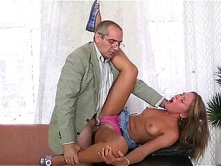 5:33 - Old tutor gets cock loving action -