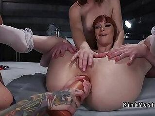 5:08 - Lesbian slave gets deep anal penetration -