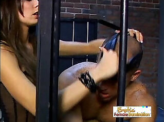 24:50 - Stunning Mistress Vanessa Dominates A Slave In Jail -