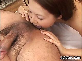5:25 - Sexy Hinayo Motoki wildest cumshot! -