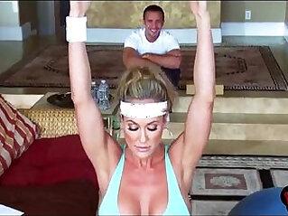 3:44 - Brandi Love screams shouts as her gym lover rams her MILF cunt -