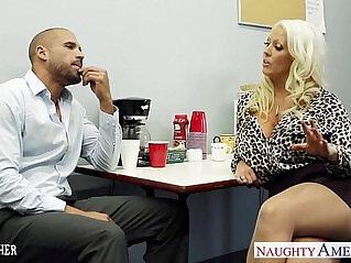 9:21 - Hot sex teacher alura jenson fucking a large shaft -