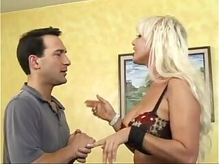 15:55 - Busty mature horny lady busy with younger -