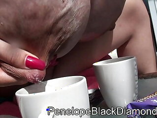 1:40 - Penelope Black Diamond Outdoor footjob Piss Milk Dusche Preview -