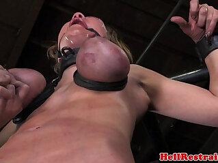 6:56 - Tit penalized ball gagged bdsm sub -