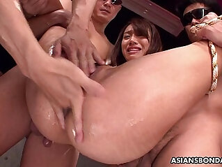 9:10 - Small Asian slut bdsm treated by the fellas -