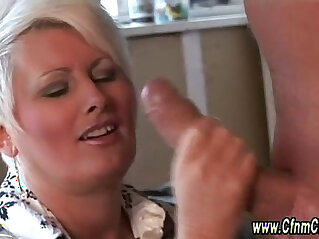 5:38 - Clothed cfnm femdoms cock to suck and cumshot -