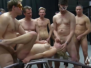 14:52 - MMV FILMS German Gangbang in a cage -