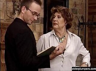 6:38 - Granny seducing horny guy. -