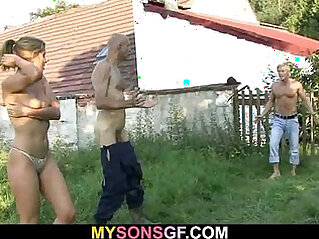 6:13 - Son goes crazy after seeing her fucking herself with dad -