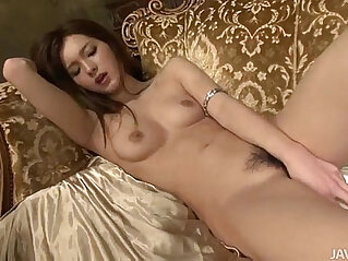 5:21 - Lovely Mei looks fantastic in and on gold as she toys her sweet pussy -