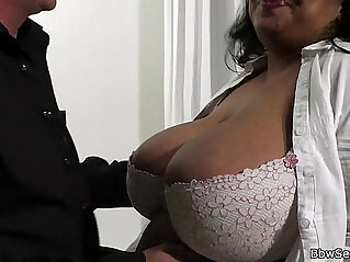 6:57 - Caught with ebony bbw in fishnets -