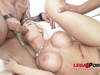 2:04 - Perfect Blonde Blanche Bradburry Airtight DP Double Anal -