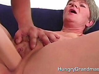 6:25 - Granny fucking with younger guy -