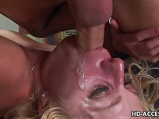 9:38 - Horny brunette slut Angela Stone gets her throat fucked very hard -