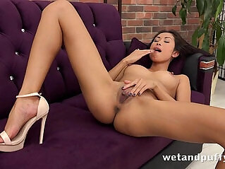 38:15 - Sexy Asian strips and plays her pussy pump -