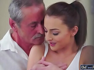 5:34 - Czech Katy Rose sucks off and old guy before riding cock -