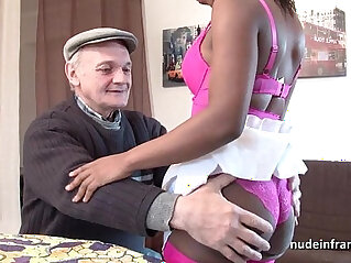 35:57 - Black ghetto slut in lingerie hard ass fucked in threeway with Papy voyeur -