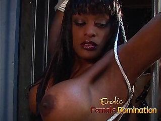 9:23 - Jailed ebony girl punished by mistress Natasha after being caught masturbating -