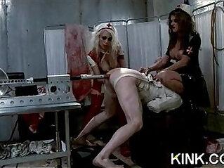 5:50 - Pretty sexy euro girl knox suspended, dog play, bondage -