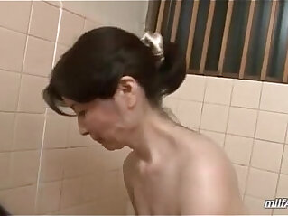 9:32 - Mature Woman Washing Young Guy Body Sucking Cock In The Bathroom -