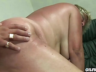 6:07 - Old granny gets her hairy wet pussy fucked by perverted dude -