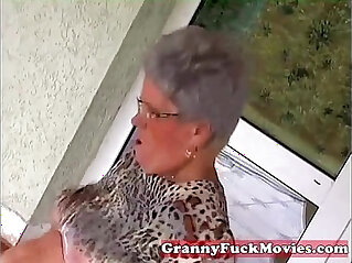 5:53 - Young stud fucking old fat granny -