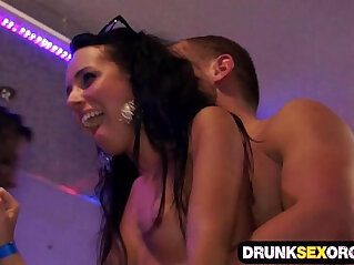 9:52 - Hot boozed ladies fucking at the party -