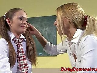 6:58 - Euro schoolgirl pussyfingered in bondage -