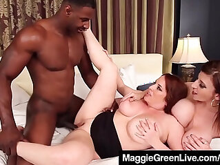 8:21 - Curvy blonde maggie green and busty brunette milf sara jay fuck cock -