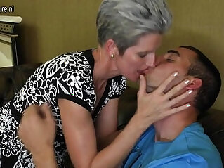 3:51 - Skinny Mom makes love to her Sons hard big cock -