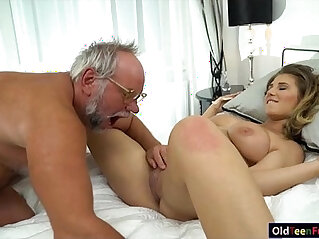 5:55 - 19 yo Aida Swinger pussy and ass eaten and banged by grandpa -