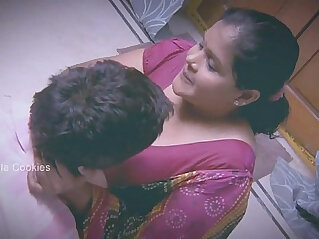 Chubby Indian Lady busy with younger man