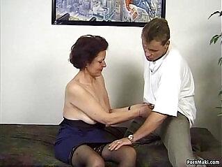 7:26 - German granny enjoys threesome -