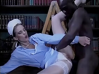 15:00 - Sexy white maid bothered and fucked by a black -