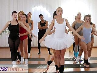 14:58 - Fitness Rooms Petite ballet teachers secret threesome -